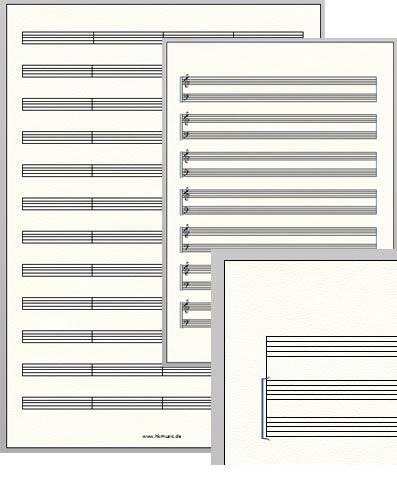 notenpapier ausdrucken a4